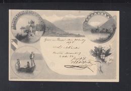 Schweiz AK Gruss Aus Thun 1898 - BE Berne