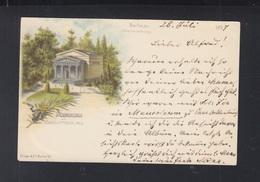 Dt. Reich Litho-AK Mausoleum Zu Charlottenburg 1897 - Charlottenburg