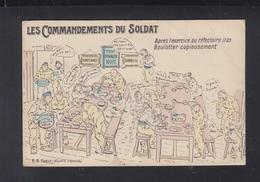 Carte Postale Les Commandements Du Soldat - Humor