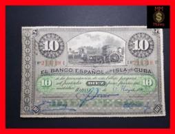 CUBA 10 Pesos 15.5.1896  P. 49  VF - Cuba