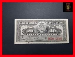 CUBA 20 Centavos 15.2.1897  P. 53  UNC - Kuba