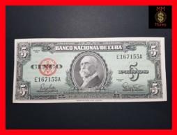 CUBA 5 Pesos 1960  P. 92  XF - Cuba