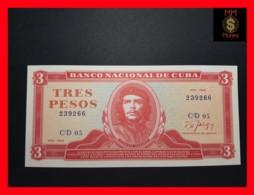 "CUBA 3 Pesos 1988  P. 107  UNC ""CHE"" - Kuba"
