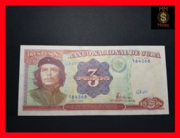 """CUBA 3 Pesos 1995  P. 113  UNC """"CHE"""" - Cuba"""