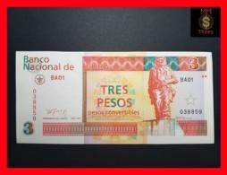 """CUBA 3 Pesos Convertibles 1994  P. FX 38  UNC- """"CHE"""" - Cuba"""