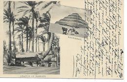 EGYPTE  STATUE OF RAMSES - SAKKARAH  ( ECRITE 1901 ) - Autres
