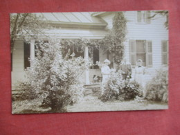 RPPC  Named People Outside Home     Ref 3109 - Postcards