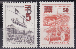 Yugoslavia 1965 Definitive Stamps With Overprint, MNH (**) Michel 1134-1135 - Ungebraucht
