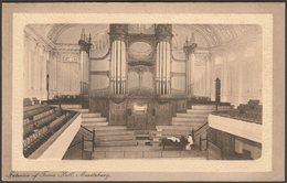Interior Of Town Hall, Maritzburg, Natal, C.1905-10 - R N Boyes Postcard - South Africa