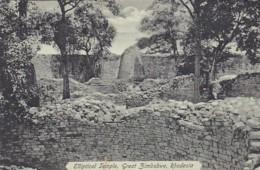 236825Rhodesia, Elliptical Temple, Great Zimbabwe 1927 (voir Coins-bas Petite Déchirure) - Zimbabwe
