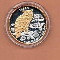 LIBERIA $10 2004 JAPAN UIL SILVER PROOF MET 24 KT GOUD EN BRILJANT IN OGEN ZEER KLEINE OPLAGE - Liberia