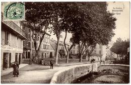 MEYRUEIS 1910 Le QUAI Animée Attelage Commerces / Ed. Pélisson, Millau - Meyrueis