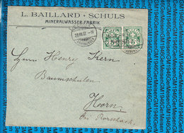Schweiz - Cover 1902 / Mineralwasser Fabrik Schuls - Interi Postali