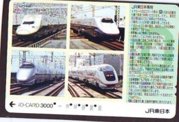 Carte Prépayée  Japon * TRAIN *  JR * IO * CARD * (4909) Japan Prepaid Card * ZUG * Karte * TREIN * IO * - Trains