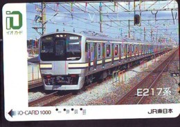 Carte Prépayée  Japon * TRAIN *  JR * IO * CARD * (4928) Japan Prepaid Card * ZUG * Karte * TREIN * IO * - Trains