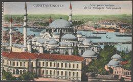 Vue Panoramique De La Mosquée Suleymanié, Constantinople, C.1910 - J M & F CPA - Turkey