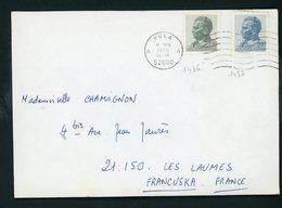 YOUGOSLAVIE - N° Yt 1436+1437 SUR LETTRE OBL. DE PULA DE 1975 - Briefe U. Dokumente