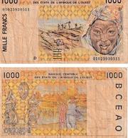 Etats D'Afrique De L'ouest 1000 Francs - West African States