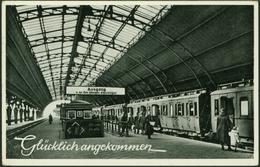 Ansichtskarte Hagen Bahnhof Topographie Deutschland Gelaufen 1952 - Schienenverkehr