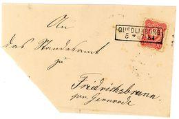 """""""QUEDLINBURG"""" Ra 2 Auf Vds. Nr. 33 Nach Friedrichsbrunn - Allemagne"""
