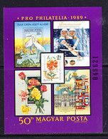 Hungary 1989 Pro Philatelia M/s (with KSZE-stamp) ** Mnh (41552A) - European Ideas