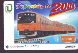 Carte Prépayée  Japon * TRAIN *  JR * IO * CARD * (4941) Japan Prepaid Card * ZUG * Karte * TREIN * IO * - Trains