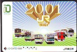 Carte Prépayée  Japon * TRAIN *  JR * IO * CARD * (4944) Japan Prepaid Card * ZUG * Karte * TREIN * IO * - Trains