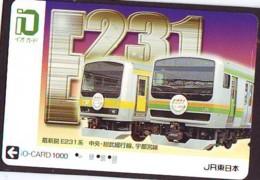 Carte Prépayée  Japon * TRAIN *  JR * IO * CARD * (4945) Japan Prepaid Card * ZUG * Karte * TREIN * IO * - Trains