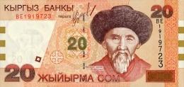 Kyrgyzstan 20 Som  2002  Pick 19 UNC - Kirghizistan