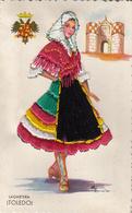 Thematiques Brodées Tissus Fil De Soie Espagne Danseuse Flamenco Toledo Lagardera - Brodées