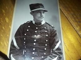 CDV PHOTO Originale Militaire A Identifié Grenoble - Guerre, Militaire
