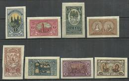 Republic Of Central Lithuania 1921 Mi 34-41B Fi 34-41A Mh - Mint Hinched ( PZE3 LTS34-41B ) - Châteaux