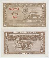 Laos 5 Kip (1957) Pick 2b AUNC - Laos