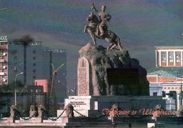 1 AK Mongolei * Reiterstatue Von Suche-Bator In Der Hauptstadt Ulan Bator * - Mongolie