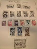 Sammlung Saar 1947-1959 Gestempelt U. Ungebraucht Saarland Ca 340 Marken (1450) - BRD