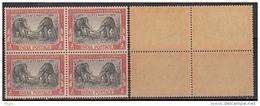 Block Of 4, India MNH 1951, Cent., Of Geological Survey, Elephant, Animal, Shegodon Ganesa, - Blocks & Sheetlets