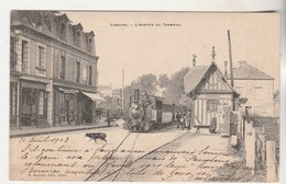 Cpa  14 Cabourg L'Arrivée Du Tramway - Cabourg