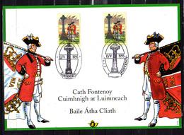 1995   Belgique , Carte Souvenir De La Bataille De Fontenoy, 2600 HK, Cote 9 €, Emission Commune EIRE IRLANDE - Cartes Souvenir