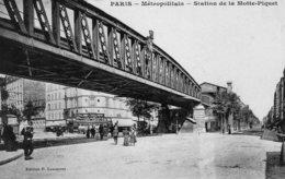 DPT 75 PARIS Métropolitain Station De La Motte-Piquet - Stations, Underground