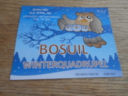 ETIQUETTE BIERE BOSUIL WINTERQUADRUPPEL - Birra