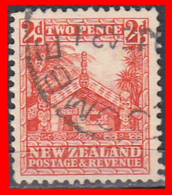 "NEW ZEALANDA -- SELLO  ""Maori Couneil House""  2 PENNY POSTAGE - 1855-1907 Colonia Británica"
