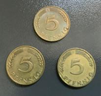 "GERMANIA - DEUTSCHLAND - 1968 - Moneta 5 PFENNIG "" J "" Ottime Condizioni - [ 7] 1949-… : RFA - Rep. Fed. Tedesca"