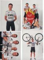 CYCLISME  4 PHOTOS PRESSE TVM FARM FRITES 1999 - Cyclisme