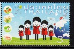 THAILAND, 2018, MNH, WORLD POST DAY, PLANES, TRUCKS, FRUIT, SHRIMPS, 1v - Post