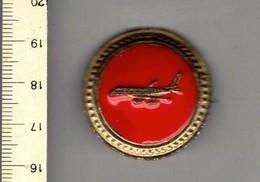 M S - BROCHE - AVION - VLIEGTUIG - Jetons & Médailles