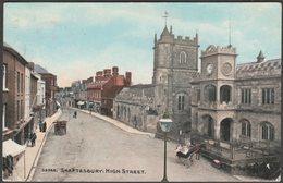 High Street, Shaftesbury, Dorset, 1908 - Photochrom Postcard - England