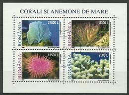 Romania 2001 Mi Abo Bl 318 MNH ( ZE4 RMNabobl318 ) - Meereswelt