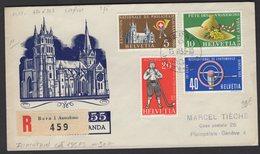 Enveloppe 1° Jour RECOMMANDEE  Du 15. II. 1955; Werbemarken Légende Allemande - FDC