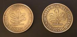 GERMANIA - DEUTSCHLAND  2 Monete 10 PFENNIG 1970 D E 1977 J - 10 Pfennig