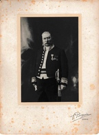 Joseph Saintraint Bourgmestre De Namur En Tenue D'officier D'état Civil Rue De La Croix F. Beguin Photo Sur Carton - Namur